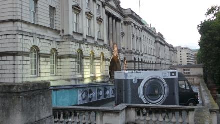 sous le ciel de paris, JR, inside out, Somerset House, London