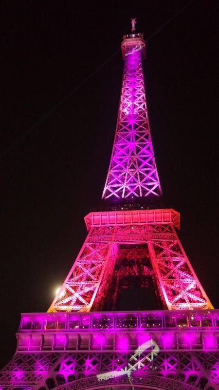 sous le ciel de paris, la parigina, octobre rose, tour eiffel, cancer du sein