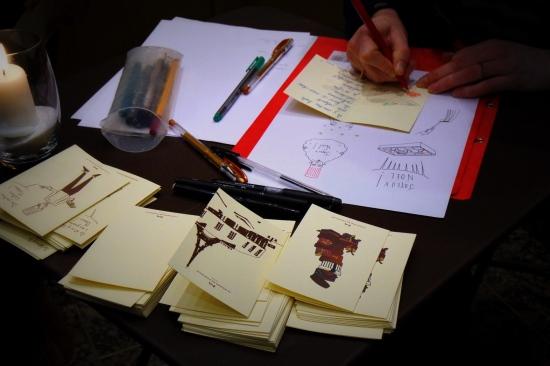 sous le ciel de paris, la maison du chocolat, créateurs de rêves, noel, Marie Declerck, illustratrice